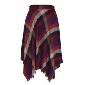 NWT Melissa McCarthy Seven7 Handkerchief Skirt XL